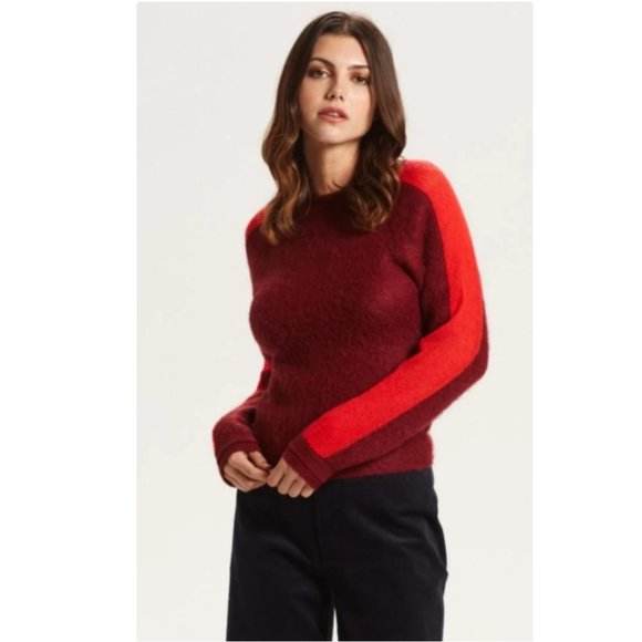 Marie Oliver dylan double crew colorblock sweater